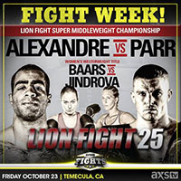Upcoming Event: Lion Fight 25, 10/23/15