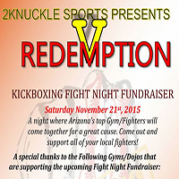 Upcoming Event: Fight Night Fundraiser, 11/21/15